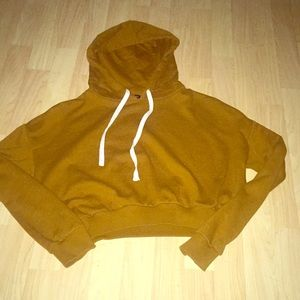 Burnt orange color, cropped hoodie